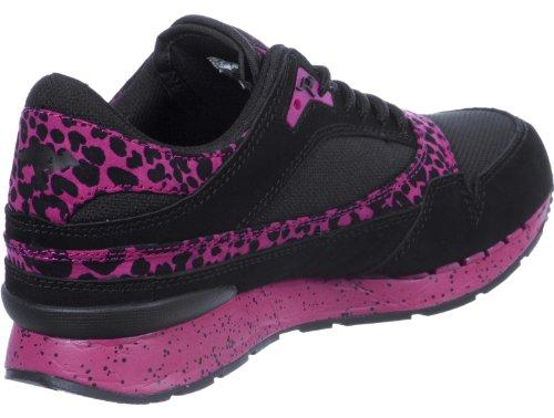 Kangaroos Damen Sneaker BLK/MAGENTA/LEOPARD