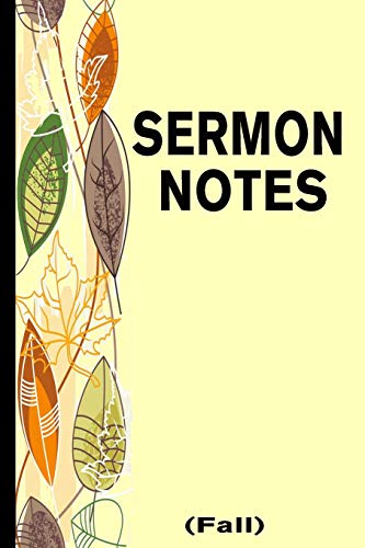 Sermon Notes - Fall: A Guided Note Taking Journal for Men & Women (Christian Gifts for Men, Band 1)