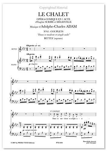 """Adam, Adolphe • CHALET (LE) • """"Dans ce modeste et simple asile"""" (soprano)"""