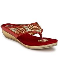 RIMEZS Slip On Party-Wear Wedges Sandal