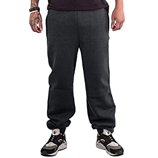 Love My Fashions Men Bottoms Joggers Lounge Pants Tracksuit Jog Bottom Fleece Zip Pockets S-XXL (X Large, Charcoal)