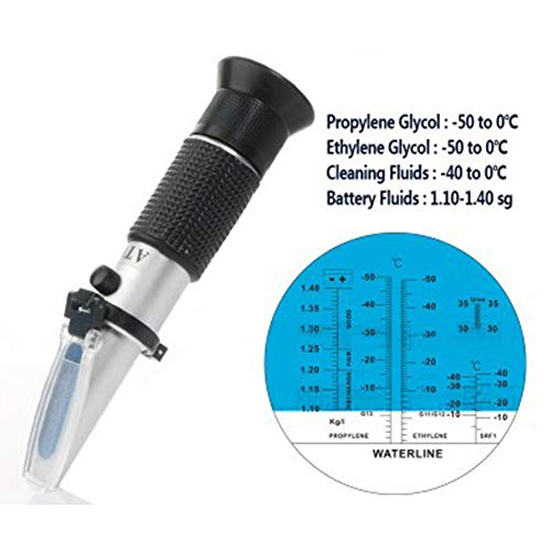 PinShang - Medidor de puntos de hielo anticongelante, anticongelante, líquido, para medición de puntos de hielo, electrolito, hidrómetro, punto de congelación, medidor de temperatura