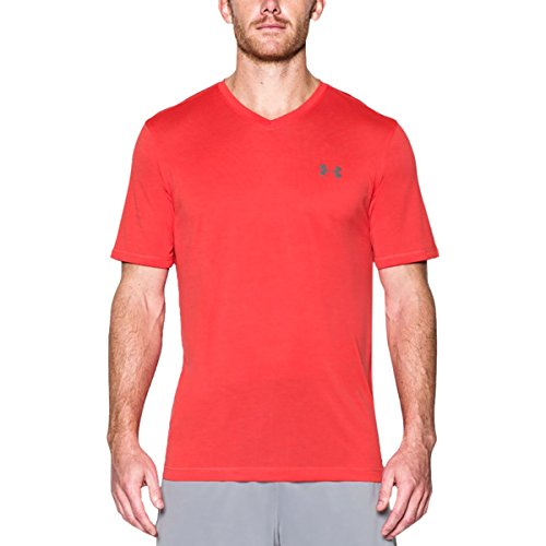 Under Armour Herren Ua Tech V-Neck Kurzarmshirt pomegranate-graphite (1253534-693)