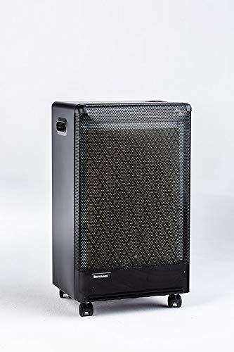Ravanson OKG 3000 Gasheizer • 3000W • Heizstrahler • Gas Heizgerät • bis zu 50m² effizient heizen • Propangas G30 (LPG) • Mit CO₂-Analysator • piezoelektrischer Zünde,schwarz