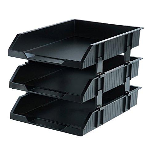 3 Tier Schreibtisch Organizer Brief Tray Organizer Office Desktop Dokument Papier Datei Lagerung für Haus und Büro (26 * 34 * 25 cm) (Farbe : #2) (Schreibtisch-tier Tray)