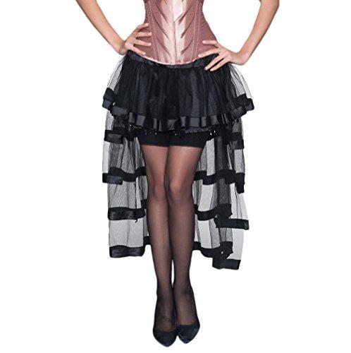 Falda irregular asimétrica con múltiples capas
