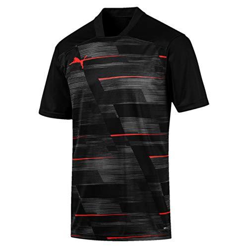 PUMA Herren ftblNXT Graphic Shirt Trikot, Black/NRGY Red, M (Trikot Graphic)