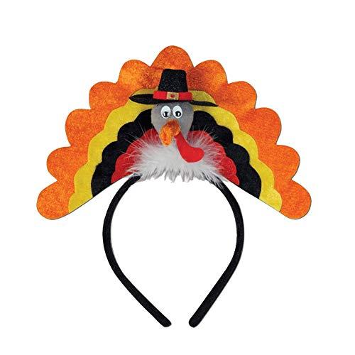 Ouken Neuheit Türkei Stirnband Kreative Mode Türkei-Haar-Band Türkei Kostüm Dekoration Accessoires für Kinder und Erwachsene 1pc Gelb (Kinder Kostüm Türkei)