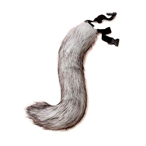 Kostüm Cosplay Furry - ZOYLINK Faux Fur Tail Creative Fluffy Tail Halloween Party Costume for Adults Teens