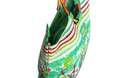 Borsa mare Gian Marco Venturi donna moda mare l.strisce 44380 verde