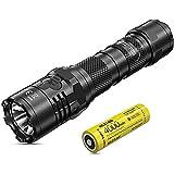 Nitecore P20i Tactical Flashlight - 1800 Lumens LED Torch USB C Rechargeable - Strobe READY IP68 Waterproof ([ 21700i Li-ion