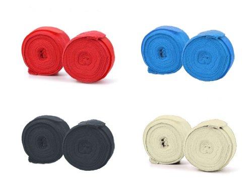 Paire de Bandes - Bandage pour Boxe - Sous Gants de Boxe - Bande de Maintien - Stretch Coton