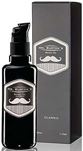 Mr. Burtons Bartöl CLASSIC – unverwechselbarer Duft – 50ml Bart Öl für die Bartpflege – Premium Qualität – zum Bart weich machen – als Geschenke zum Jahrestag oder Geburtstagsgeschenk für Männer