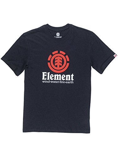 Element Herren Vertical Ss Shirt und Hemd FLINT_BLACK_Schwarz