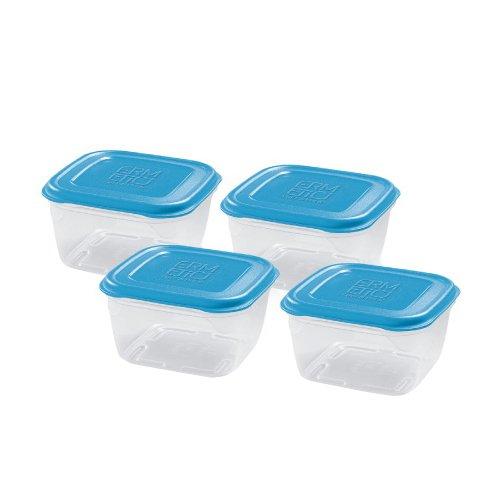 Giòstyle set 4 contenitori 0,25 lt azzurro