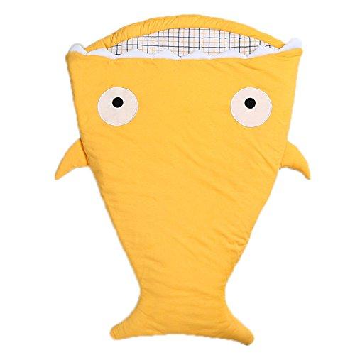 DINGANG Baby Bunting Bag, Schlafsack Shark Swaddling Decke Winter-100% Baumwolle - Einsatz in Outdoor-Kinderwagen oder klimatisierte Zimmer-Sommer / Winter-Dual-Use