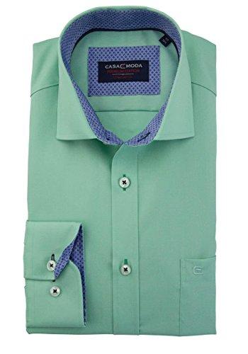 CASAMODA Herren Freizeithemd Grün (Grün 300)