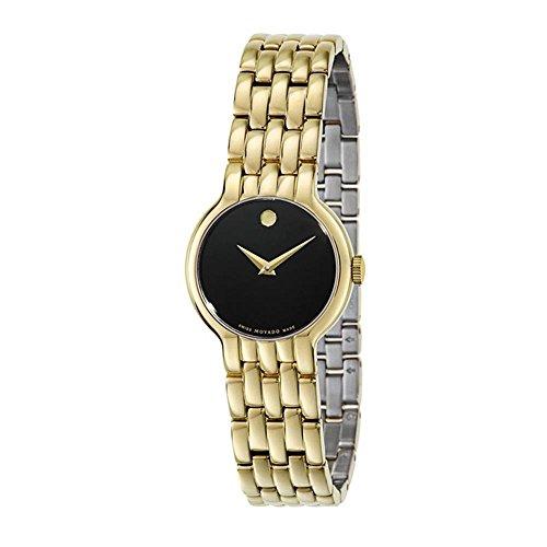 MOVADO WOMEN'S GOLD TONE STEEL BRACELET & CASE SWISS QUARTZ WATCH 0606935