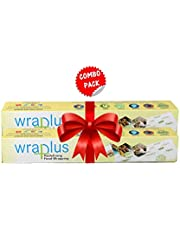 Wraplus Premium Quality Multipurpose Food Wrapping Paper - Pack of 2 (20 M, Green and White)