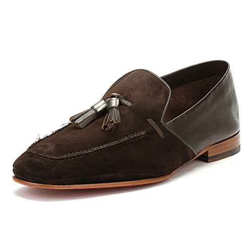 Jeffery West Hommes Croste Bovino Dark Marron Martini Mule Loafer