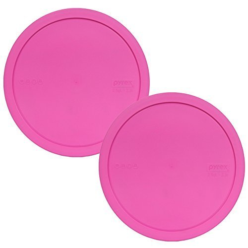 Pyrex 325-PC Pink 10-inch Dia. Plastic Lid for 2.5-Quart (2.3L) Mixing Bowl (2-Pack) by Pyrex