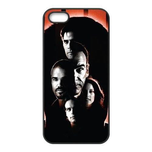 Criminal Minds coque iPhone 5 5S Housse téléphone Noir de couverture de cas coque EBDXJKNBO16628