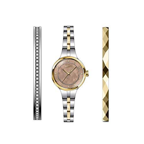 Invicta Angel Reloj de Mujer Cuarzo analógico Correa y Caja de Acero 29284