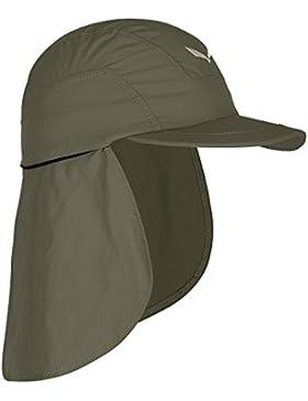 Salewa Puez (Sun Prot) Neck Gait - Gorra con cuello extraíble para hombre, color gris, talla S