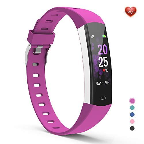 YoYoFit Fitness Tracker, Uhr mit GPS Pulsuhren Armband Schrittzähler Kalorien mit Herzfrequenz Pulsmesser Stoppuhr Schlafmessung Schlaf Erinnerungsfunktion für Damen Herren Kinder