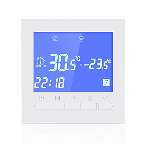 Aiming Programmierbare WiFi Thermostat Elektro-oder Wasser Fußboden-Heizungs-Thermostat LCD-Display Smart Wi-Fi-Temperaturregler