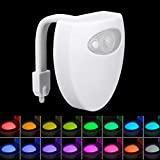 TAOtTAO WC Licht Körper der automatische LED-Bewegungs-Sensor-Nachtlicht-Toilettenschüssel Badezimmer-Licht erfaßt (A)