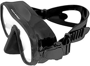 Aquaspeed masque de plongée lunette de plongée, silicone + verre de sécurité de 4mm, pliable, qualité professionnelle (Amati)