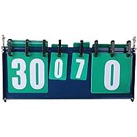 LIOOBO Tablero de puntuación Multifuncional portátil de 4 dígitos Competición Deportiva 0-30 Scoreboard