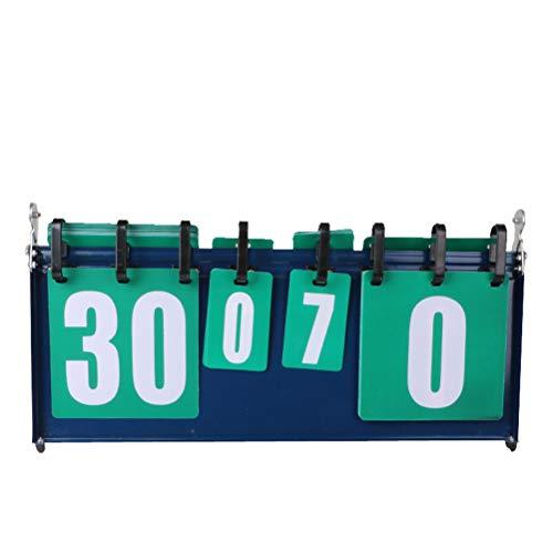 LIOOBO Anzeigetafeln Tragbar 4-Stellige 0-30 für Tischtennis, Basketball, Badminton Wettbewerb