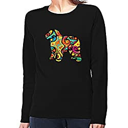 Eddany Psychedelic Spanish Water Dog Women Sweatshirt