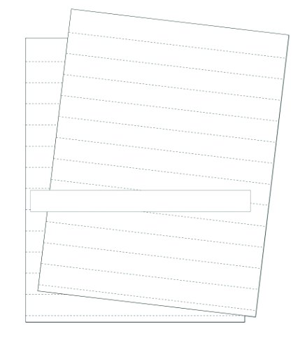 MasterVision Data Card Replacement Sheets, 8.5 x 11 Inch Perforated Sheets, White, 10 Sheets (FM1615)