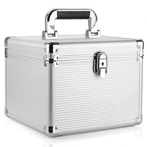 Aufbewahrungsbox von Lovinn, 3,5 Zoll Festplattenlaufwerk, Aufbewahrungsbox aus Aluminium, mit Schlüssel, 10 Stück