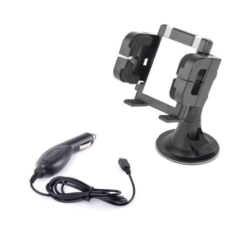 DURAGADGET 3 in 1 KFZ-Halterung für Windschutzscheibe, Armaturenbrett und Lüftungsgitter + KFZ-Ladekabel für LG P920 Optimus 3D / GT540 Smartphone