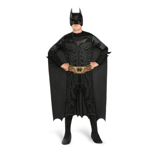 Batman Dark Knight Rises Teenager Comic Helden Kostüm 4-tlg Overall mit Maske, Cape und Gürtel - - Kinder Batman Pinguin Kostüm