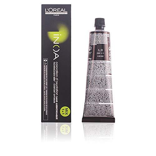 L'Oréal Inoa - Oxidative Coloration Ohne Ammoniak 5,31 Hellbraun Gold Asch, 1er Pack (1 x 60 ml)