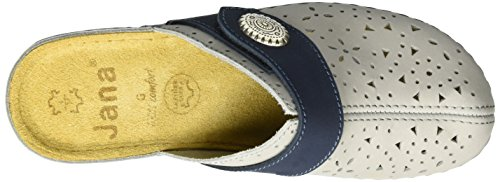 Jana Damen 27303 Offene Sandalen mit Keilabsatz Grau (GREY 200)