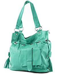 ital Tasche Damentasche Handtasche Ledertasche Schultertasche Nappa Leder DS53