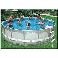 Set per piscina Intex piscina Frame Ultra Rondo, Grigio, Diametro 488x 122cm