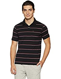 Peter England Men's Striped Regular Fit Polo
