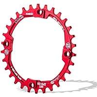 Plato de aluminio con 30 dientes para bicicleta de montaña, con distancia BCD de 104 mm, de Chooee, rojo