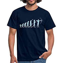 Tir À l'arc Évolution du Singe À L'Archer T-Shirt Homme, 3XL, Marine
