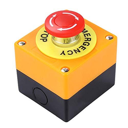 Majome 1 NO 1 NC 10A 660V Bouton d'arrêt d'urgence Station de Commutation de Champignons Rouge