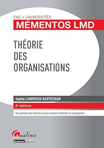 Théorie des organisations, 2ème édition