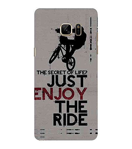 Fiobs Designer Phone Back Case Cover Samsung Galaxy Note7 :: Samsung Galaxy Note7 Duos ( Stunt Rider Bike Cycle Racer )  available at amazon for Rs.397