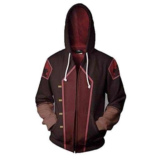 SDKHIN Unisex Anime Cosplay Männer Frauen 3D Pullover Print Avatar: Die Legende von Korra Hoodie Sweatshirt Athletic Casual Landless Zipper,Brown-XXXL